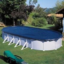 Cubierta de invierno para piscina Gre ovalada 500x300