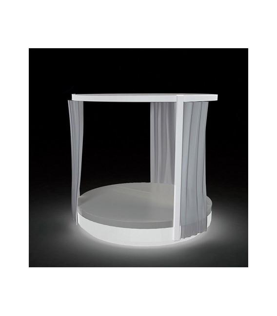 Pérgola Vela redonda con cortinas