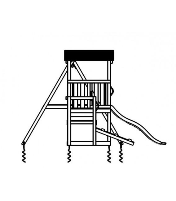 Mini Cascade M Parque Infantil + COLUMPIO DOBLE