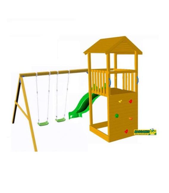Canigó Parque Infantil + Columpio Doble