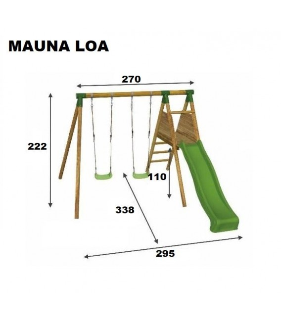 Mauna Loa con Balancín Parque Infantil