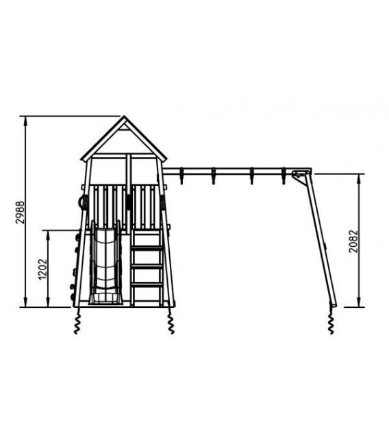 Belvedere Parque Infantil + Columpio Doble
