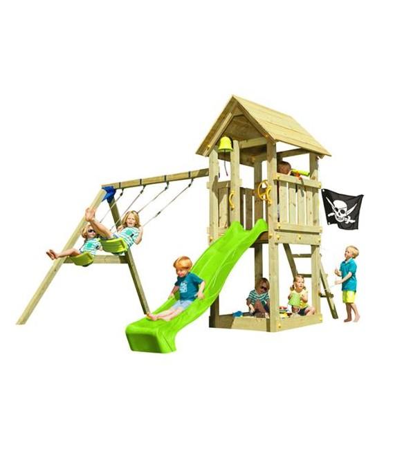Kiosk XL Parque Infantil + Columpio Doble
