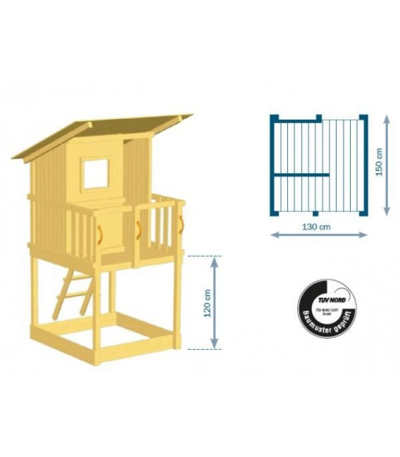 Beach Hut Parque Infantil + Columpio Doble