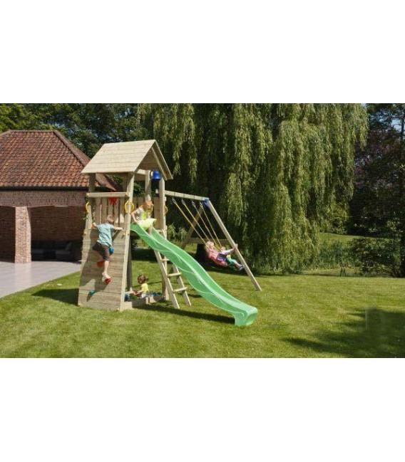 Belvedere XL Parque Infantil + Columpio Doble