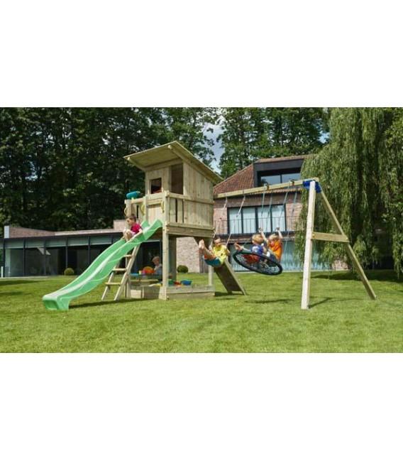 Beach Hut XL Parque Infantil + Columpio Doble