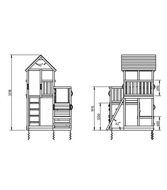 Penthouse XL Parque Infantil + Columpio Doble