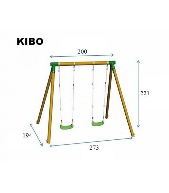 Kibo doble Columpio Madera