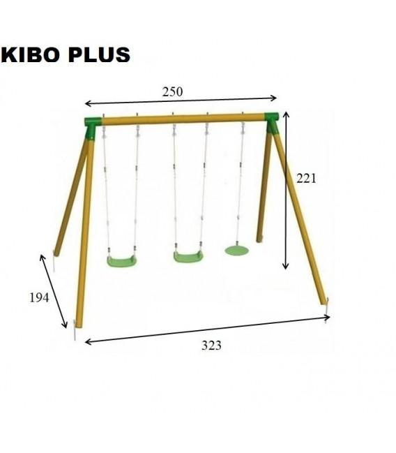 Columpio Triple Kibo Plus