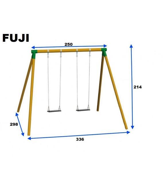 Columpio Doble Fuji Asientos Con Cuerdas