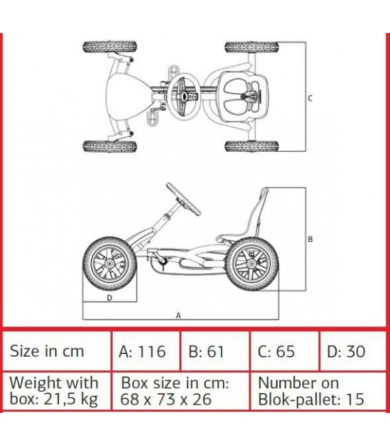 Kart de pedales Berg Buddy Fendt