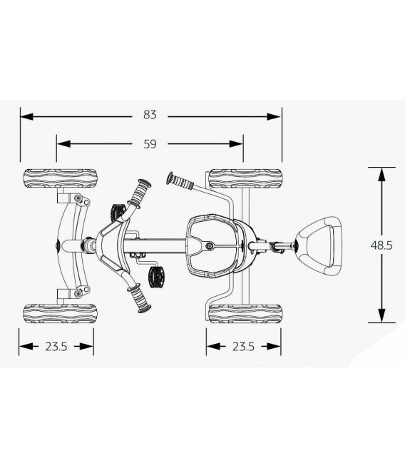 Coche de pedales Evolutivo Berg Buzzy Nitro 2 en 1