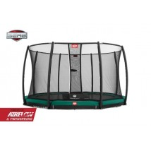 Cama Elástica Berg Inground Champion 380 Green + Red Deluxe