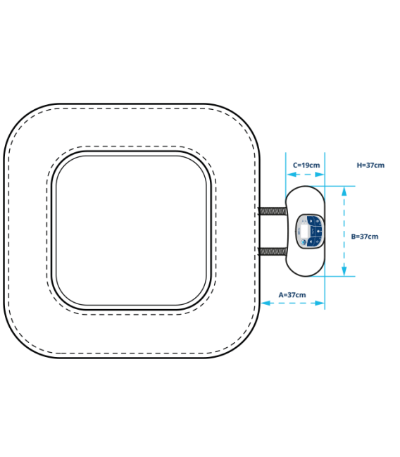 Spa hinchable NetSpa Caiman