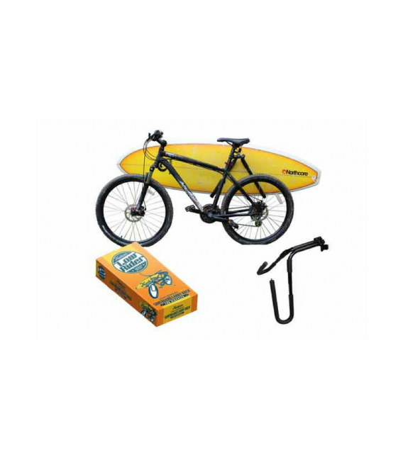 Porta tabla surf bicicleta
