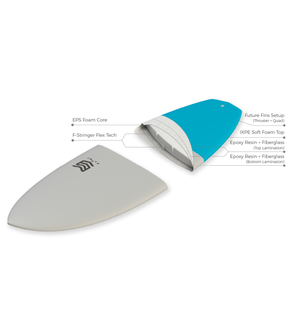 Tabla Surf 5'3 Marshmallow Stingray