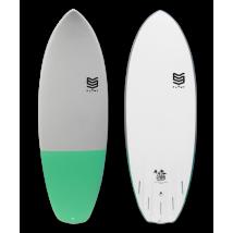 "Tabla Surf 5'6"" Marshmallow Green"