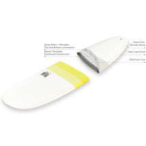 Tabla Surf dura 7'2 Malibu