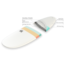 Tabla Surf dura 7'6 Malibu