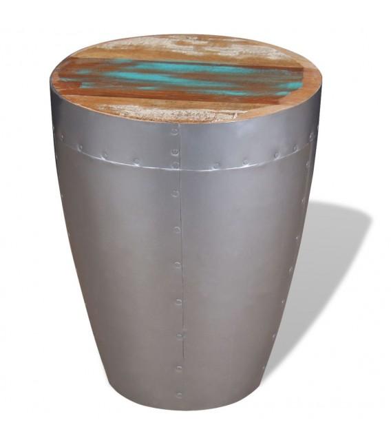 Taburete aviador madera maciza reciclada