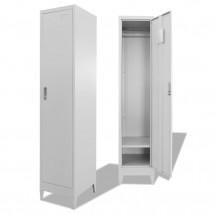 Armario taquilla 1 compartimento en acero color gris