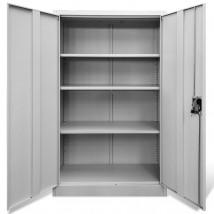 Armario de oficina con 2 puertas de acero gris 140