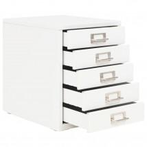 Armario archivador con 5 cajones metal blanco