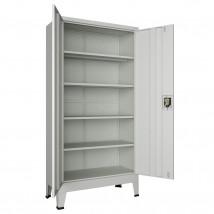 Armario de oficina con estantes acero gris 180