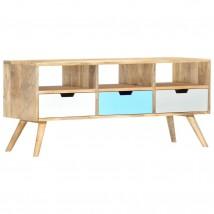 Mueble para TV de madera maciza de mango tricolor