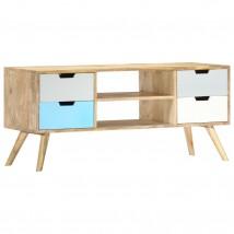 Mueble para TV de madera maciza de mango tricolor bi