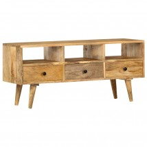 Mueble para TV de madera maciza mango, estilo industrial