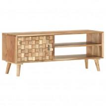 Mueble para TV de madera maciza de acacia, estilo vintage