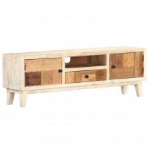 Mueble para la TV de madera maciza reciclada, estilo industrial