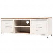 Mueble para la TV de acero galvanizado, color blanco
