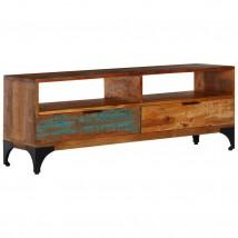 Mueble para la TV de madera maciza reciclada con 2 cajones