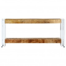 Mueble para TV de madera maciza mango blanco pequeño