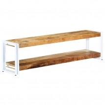 Mueble para TV de madera maciza mango blanco grande