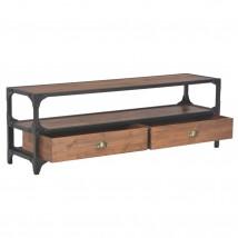 Mueble para TV con 2 cajones de madera de pino maciza