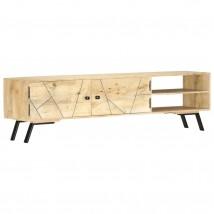 Mueble para TV en madera de mango y latón