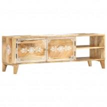 Mueble para TV en madera de mango con dibujo