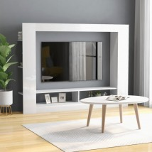 Mueble para TV de aglomerado blanco brillante