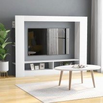 Mueble para TV de aglomerado blanco mate