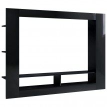 Mueble para TV de aglomerado negro brillante