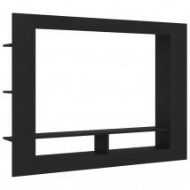 Mueble para TV de aglomerado negro mate
