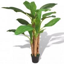 Árbol bananero artificial con macetero 175 cm verde