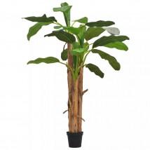 Árbol bananero artificial con macetero 250 cms verde