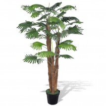 Palmera Fan artificial con aspecto natural, 180 cms