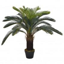 Planta artificial palmera cica con macetero 90 cms