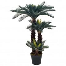 Planta artificial palmera cica con macetero 125 cms