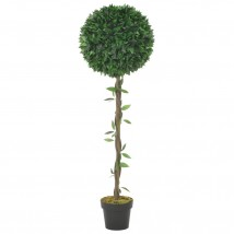 Planta artificial árbol de laurel con macetero verde 130 cms